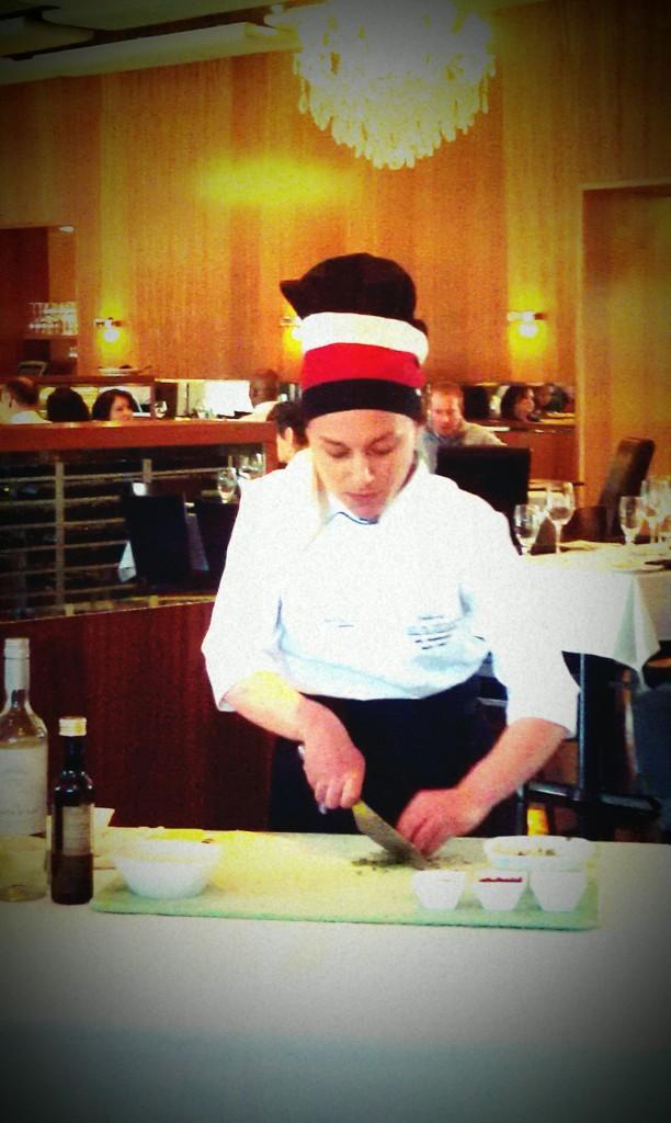 Chef Ana Rodriguez Armisen preparing Argentinean Chimichurri