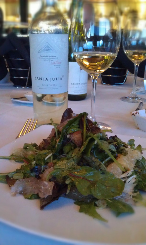 2010 Santa Julia [+] Torrontes (Mendoza, Argentina) & Cured Flounder and Grapefruit Salad