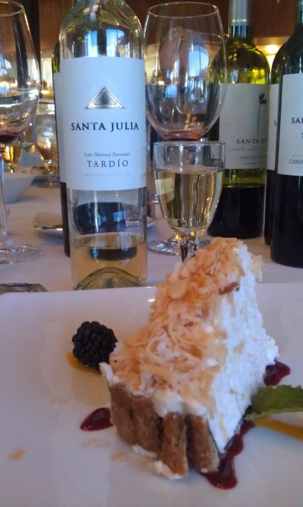 2009 Santa Julia Tardio (Mendoza, Argentina) & Coconut Mousse Pie