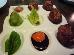 One Of the Best Los Angeles Restaurants - Red Medecine - Meatballs