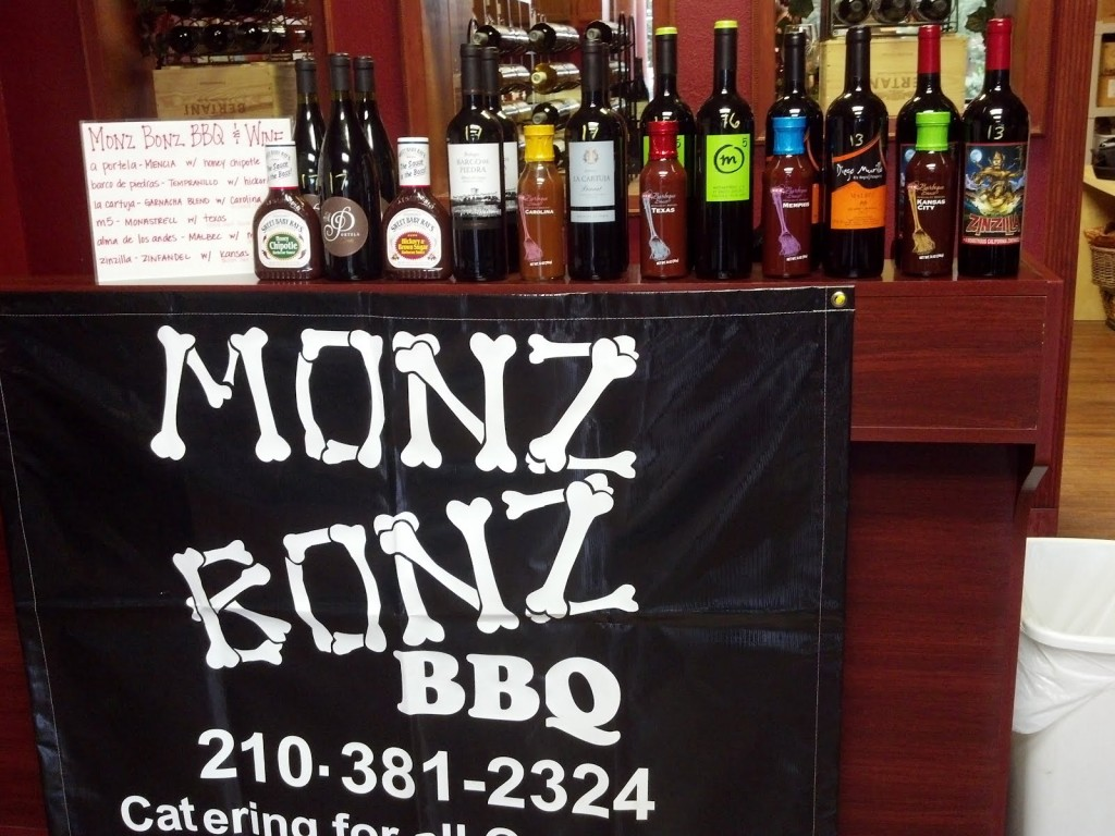 Wine & BBQ Pairing at Vinously Speaking Wine Shop featuring Monz Bonz BBQ