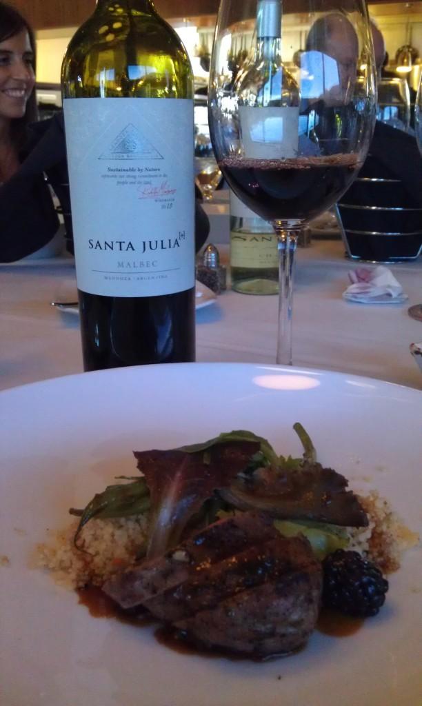 2010 Santa Julia [+] Malbec (Mendoza, Argentina) & Five Spice Duck