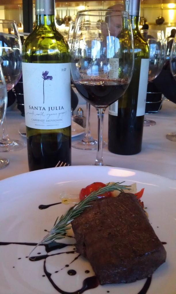 2010 Santa Julia Organica Cabernet Sauvignon (Mendonza, Argentina) & Lamb Loin w/ Malbec Reduction