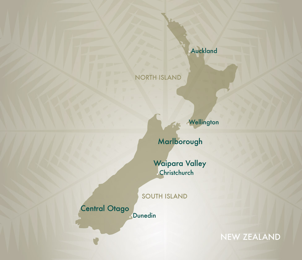 Mud House Wine Regions New Zealand Map
