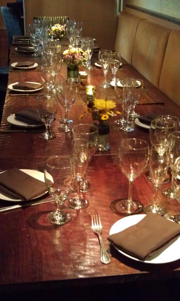 SA Cooks Coalition Dinner Table